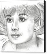 Audrey Hepburn Smile Canvas Print