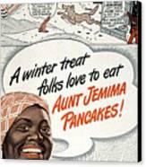 Aunt Jemima Ad, 1948 Canvas Print