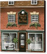 Auntie Mae's Tea Shop Canvas Print by Catherine Holman