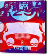 Austin Healey Bugeye Canvas Print by Naxart Studio