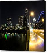 Austin Skyline Canvas Print by Amber Dopita