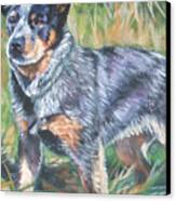 Australian Cattle Dog 1 Canvas Print by Lee Ann Shepard