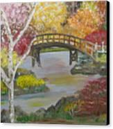 Autum Bridge Canvas Print