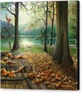 Autum Splendor Bunzen Lake Canvas Print