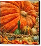 Autumn - Pumpkin - Great Gourds Canvas Print by Mike Savad