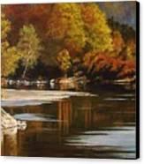 Autumn Along The Stillaguamish Canvas Print