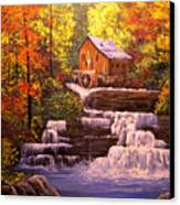 Autumn At The Mill Canvas Print