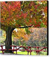 Autumn By The River On 105 Canvas Print