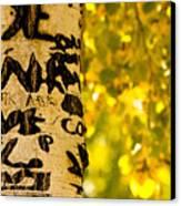 Autumn Carvings Canvas Print