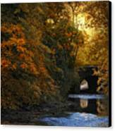 Autumn Country Bridge Canvas Print by Jessica Jenney