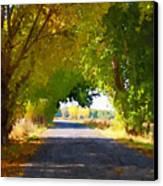 Autumn Country Lane Canvas Print