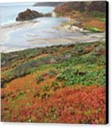 Autumn In Big Sur California Canvas Print by Pierre Leclerc Photography