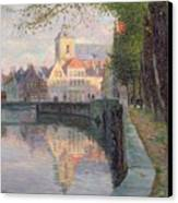 Autumn In Bruges Canvas Print by Omer Coppens