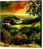 Autumn In Our Village Ardennes Canvas Print