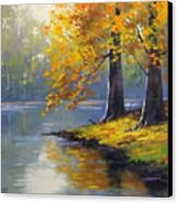 Autumn Lake Print Canvas Print by Graham Gercken