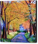 Autumn Lane Canvas Print by David Lloyd Glover
