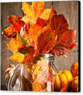 Autumn Leaves Still Life Canvas Print by Amanda Elwell
