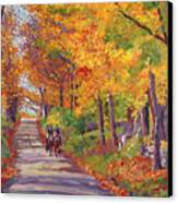 Autumn Ride Canvas Print by David Lloyd Glover
