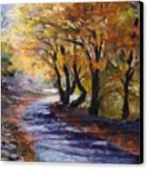 Autumn Road Home Canvas Print by Susan Jenkins