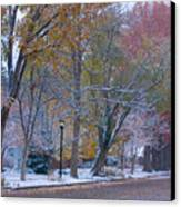 Autumn Snow Canvas Print