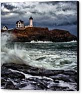 Autumn Storm At Cape Neddick Canvas Print by Rick Berk
