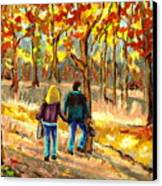 Autumn  Stroll On Mount Royal Canvas Print