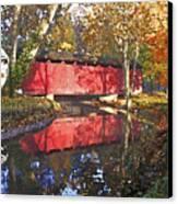 Autumn Sunrise Bridge Canvas Print