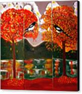 Autumn Trilogy Canvas Print
