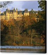 Autumn View Of The Biltmore Canvas Print by Melissa Farlow