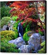 Autumn Waterfall Canvas Print by Carol Groenen