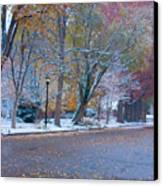 Autumn Winter Street Light Color Canvas Print by James BO  Insogna