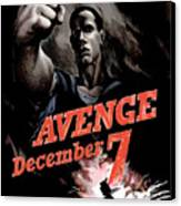 Avenge December 7th Canvas Print by War Is Hell Store