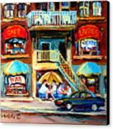 Avenue Du Parc Cafes Canvas Print