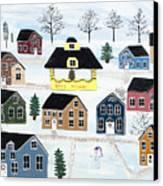 Awaiting Christmas In Glennawexton Park Canvas Print