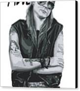 Axl Rose Canvas Print by Caio Caldas
