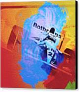 Ayrton Senna Canvas Print by Naxart Studio