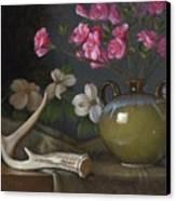 Azaleas And Dogwood Canvas Print by Timothy Jones