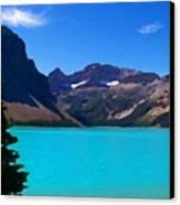 Azure Blue Mountain Lake Canvas Print
