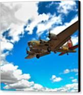 B-17 Approach Canvas Print by Jim Harris