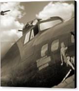 B - 17 Memphis Belle Canvas Print by Mike McGlothlen