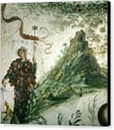 Bacchus, Roman God Of Wine, Stands Canvas Print