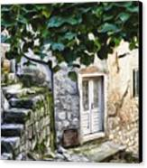Back Alley Living Canvas Print by Janet Fikar