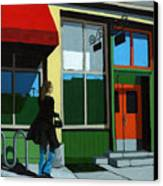 Back Street Grill - Urban Art Canvas Print by Linda Apple