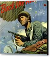 Back The Attack Buy War Bonds Canvas Print