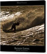 Backlight Surfing - Maui Hawaii Posters Series Canvas Print