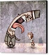 Bad Rich Man Canvas Print by Autogiro Illustration