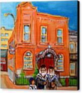Bagg Street Synagogue Sabbath Canvas Print