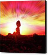 Balanced Rock Sunset - Fire In The Sky Canvas Print