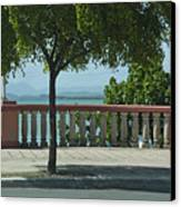 Balcony On The Beach In Naguabo  Puerto Rico Canvas Print