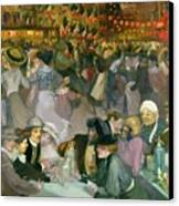 Ball On The 14th July Canvas Print by Theophile Alexandre Steinlen